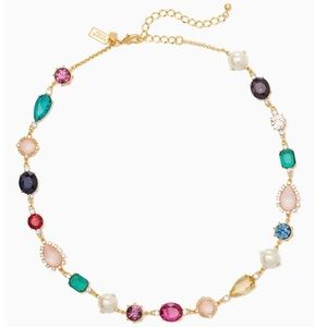 kate spade she has spark crystal & glass necklace